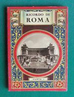 Livret Dépliant Sur Rome - Ricordo Di Roma - Partie II - 32 Vues Ou Vedute - Dépliants Touristiques
