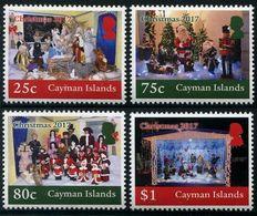 CAYMAN 2017 - Noël 2017, Crèches, Père Noël - 4 Val Neufs // MNH - Cayman Islands