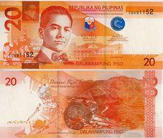 PHILIPPINES      20 Piso      P-206      2015      UNC - Filippine