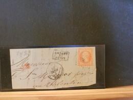 74/969 FRAGMENT   LETTRE P.C. NR.   1818  LYON - 1849-1876: Classic Period