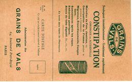 Carte échantillon Pour  Grains De Vals Contre La Constipasion - Cartes