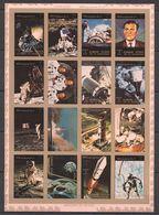 H70 !!! IMPERFORATE AJMAN HISTORY OF SPACE 1SH MNH - Raumfahrt
