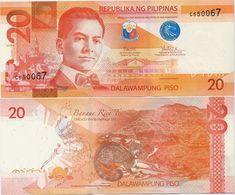 PHILIPPINES      20 Piso      P-206      2017F      UNC  [sign. Duterte-Tetangco] - Filippine