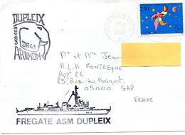 Enveloppe ; Fregate ASM Dupleix  Tampon Paris Navale - Autres