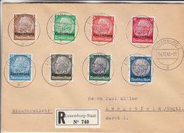 Luxembourg - Lettre Recom De 1940 - Oblit Luxembourg - Exp Vers Lengenfeld - Cachet De Lengenfeld-valeur 52 € (40 + 12) - Occupation