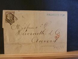 74/973  LETTRE DE LYON  G.C. NR. 532 POUR LA BELG. - 1849-1876: Classic Period