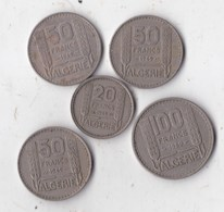 50 Francs Algérie 3 Pieces 1949 Pieces  + 100 Francs 1950 + 20 Francs 1949 - Algeria