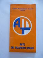 ITALIE : GENES PLAN Des LIGNES DE TRANSPORT URBAIN. - 1983 - Europa