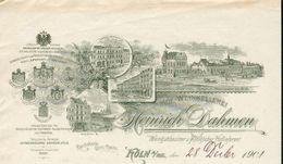 Allemagne. Köln.Belle Lettre Illustrée 28/12/1901 - Hof-Weinkellerei - Heinrich Dahmen - Weingutsbesitzer U.koniglicher - Germany