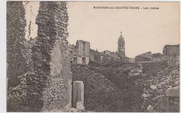 CARTE POSTALE   MANDRES Aux QUATRE TOURS 54  Les Ruines - Autres Communes