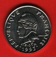 - POLYNESIE FRANCAISE - 10 Francs - 1993 - - Polynésie Française