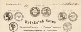 Allemagne - Erbach: Entête Du 26 Avril 1902 - Friedrich Scior - Mineralwasser-Anstalt. - Liqueur- Destillation. - 1900 – 1949