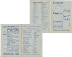 Mornimont  Jemeppe S/s   Programme Fancy Fair 1942  Balle Pelote - Programs