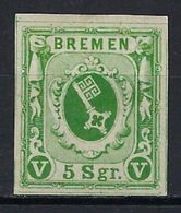 Allemagne, Brème, N° 4 *, Marge Maxi, Superbe, Signé Diena - Bremen