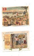 10536 - Lot De 2 Chromos Biscuits PERNOT : EGYPTE Et ETATS UNIS - Pernot