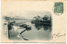CPA - Carte Postale - France - Besançon - Les Quais Vus Du Pont De Canot - 1904 (CP474) - Besancon