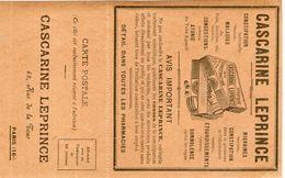 Carte Bon échantillon Pour La Cascarine Leprince - Cartes