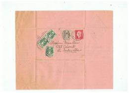 FACTURE RENAULT à VALENCIENNES POUR LA SENTINELLE(NORD) 1945 TIMBRES CERES + MAZELIN - Marcophilie (Lettres)