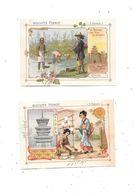 10537 - Lot De 2 Chromos Biscuits PERNOT :  CHINE Et JAPON - Pernot