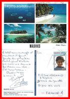 CPSM/gf  MALDIVES.  Male Atoll. Multivues...B588 - Maldives