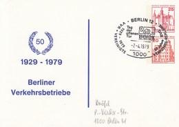 B PP 94/2 50 Jahre 1929 - 1979 Berliner Verkehrsbwtriebe, Berlin 12 - Postales Privados - Usados