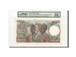 Billet, French West Africa, 5000 Francs, 1950, 22.12.1950, KM:43, Gradée, PMG - États D'Afrique De L'Ouest