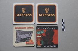Lot De 4 Sous-bocks : 2 Guinness, 1 Hürlimann, 1 Kilkenny - Sous-bocks