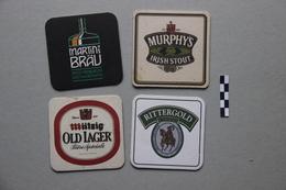 Lot De 4 Sous-bocks : 1 Martin's Bräu, 1 Murphy's, 1 Mützig, 1 Rittergold - Beer Mats