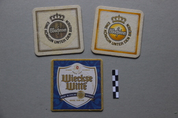 Lot De 3 Sous-bocks : 2 Warsteiner, 1 Wieckse Witte - Beer Mats
