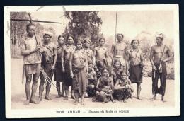 CPA ANCIENNE ASIE- VIET NAM- GROUPE DE MOÏS EN VOYAGE- TRES GROS PLAN- - Vietnam
