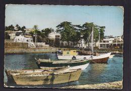CPSM COMORES - MORONI - Embarcations Cormoriennes Au Port - TB PLAN Habitations Au Bord De L'eau TB VERSO TIMBRE - Comoros