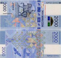 KYRGYZSTAN       2000 Som       Comm.       P-New       2017       UNC - Kirghizistan