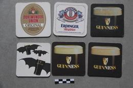 Lot De 6 Sous-bocks : 1 Dortmunder Union, 1 Erdinger, 4 Guinness - Sous-bocks