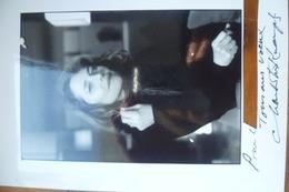 Autographe Charlotte RAMPLING - Autres Collections