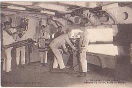 Cuirassé   206          Cuirassé Condorcet. Batterie De 75mm. Ecole De Pièces  ( Fleurs De Coins ) - Guerre
