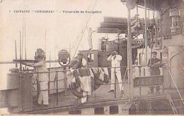 Cuirassé   207          Cuirassé Condorcet. Passerelle De Navigation ( Longue Vue, Jumelles )  ( Fleurs De Coins ) - Guerre