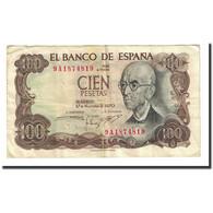Billet, Espagne, 100 Pesetas, 1970-11-17, KM:152a, TB - [ 3] 1936-1975 : Regency Of Franco