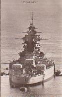 Cuirassé   282           Cuirassé Le Richelieu Au Mouillage ( Fleurs De Coins ) - Warships