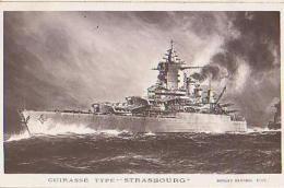Cuirassé   406           Cuirassé  Type Strasbourg   ( Fleurs De Coins ) - Warships