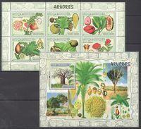 D282 2007 MOCAMBIQUE FLORA NATURE ARVORES 1KB+1BL MNH - Obst & Früchte