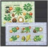 D283 2007 MOCAMBIQUE FLORA NATURE FRUITS FRUTOS 1KB+1BL MNH - Obst & Früchte