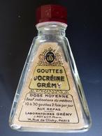 Flacon Ancien Gouttes D'OCREINE GREMY ( Laboratoires Grémy , PARIS ) - Matériel Médical & Dentaire