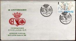 Girostamps54 - Bonito Sobre Con Matasellos Especial Del 40 Aniversario Del Chiclana Club De Fútbol - Cádiz - 1931-Hoy: 2ª República - ... Juan Carlos I