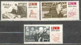POLAND MNH ** 1846-1848 CENTENAIRE DE LA NAISSANCE DE LENINE - 1944-.... République
