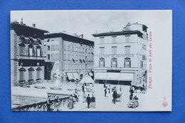 Cartolina - Firenze - Piazza Del Ponte Alla Carraia - 1900 Ca. - Firenze (Florence)