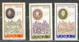 POLAND MNH ** 1863-1865 ANNVERSAIRE DE LA NAISSANCE DE COPERNIC Bologne Padoue - 1944-.... République