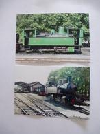 """TOURNON (07) : Locomotive à Vapeur PINGUELY 030 T """"ISERE"""" Et MALLET 414 - LOT De 2 CPM - Détails  Sur Les Scans - Stations With Trains"""