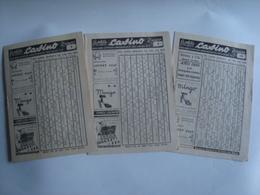 BOLETÍN DE LA REVISTA CASINO VIÑA DEL MAR. RESULTADOS AUTÉNTICOS MESA CONTROL Nº 3, 4 & 13 - CHILE, 1948. - Programs