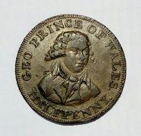 MIDDLESEX - HALF Penny Token ( George Prince Of WALES ) / Copper - Monetari/ Di Necessità