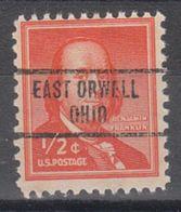 USA Precancel Vorausentwertung Preo, Locals Ohio, East Orwell 734 - Vereinigte Staaten